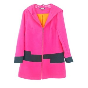 Twiggy London Pink Vintage Zupper Front Pea Coat